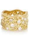 Lace 18K 黄金钻石戒指