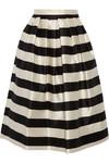 Escalante 条纹丝缎中长半身裙