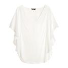 HM白色雪纺衫
