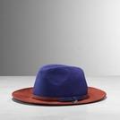 Patrizia Pepe 蓝棕帆布宽檐帽