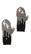 Marc by Marc Jacobs Idle Wild Pop Top Mitten in Gray