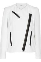 纹理绉纱机车夹克
