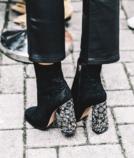 舒适时髦又显高,粗跟短靴全办到了