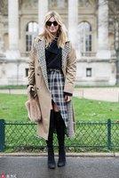 冬天最时髦的裙子 必须投格纹一票