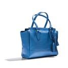 COACH 宝蓝色牛皮手提包