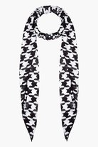 Balmain Black And White Houndstooth Scarf