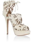 Belinda 镂空绒面革凉鞋