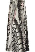 印花真丝双绉超长半身裙