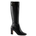 Salvatore Ferragamo2014春黑色小牛皮长靴
