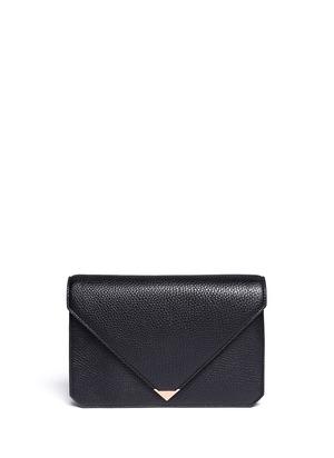 Prisma envelope leather clutch