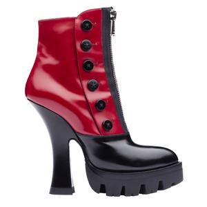 Miu Miu2013秋冬季系列红黑色短靴