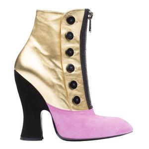 Miu Miu2013秋冬季系列金紫色短靴
