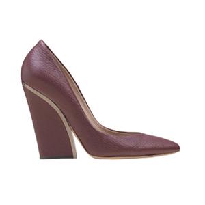 Chloé蔻依2013年秋季系列深红色高跟鞋