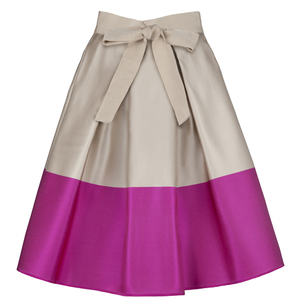 Carolina Herrera 优雅拼色半身裙