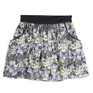 MO&Co.皱褶印花短裙