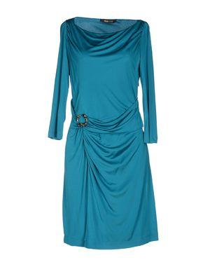 蓝绿色 ROBERTO CAVALLI 及膝连衣裙