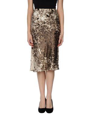 深棕色 ROBERTO CAVALLI 半长裙