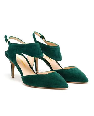 Suede Sling Back Pumps