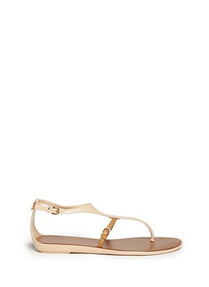 Contrast-strap flat sandals