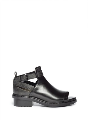 Ferdinand cut-out leather ankle boots