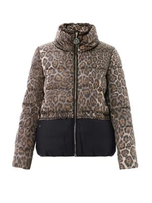 Argentee leopard and flannel coat