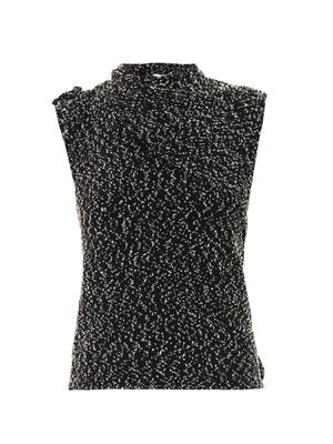 Speckle-knit sleeveless top