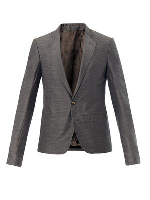 Textured linen and silk-blend blazer