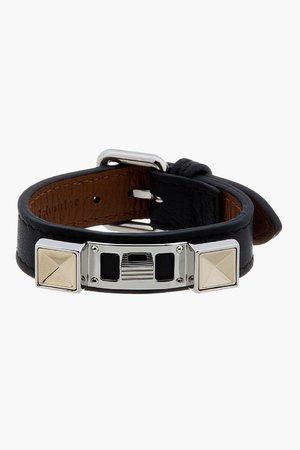 Proenza Schouler Black Leather Studded Bracelet
