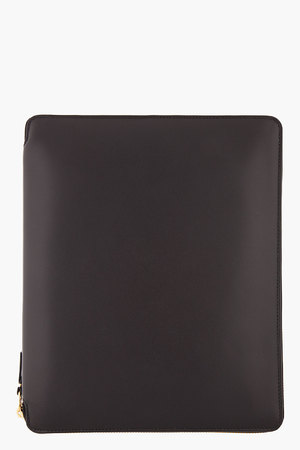 Comme Des Garons Wallets Black Classic Leather Document Holder
