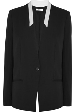 双色绉纱西装式外套