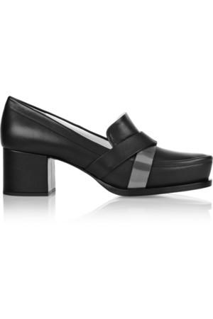 皮革中跟鞋