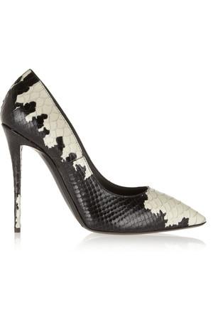 Yvette 印花仿蛇纹皮革高跟鞋