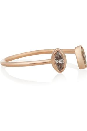中号 18K 玫瑰金钻石戒指