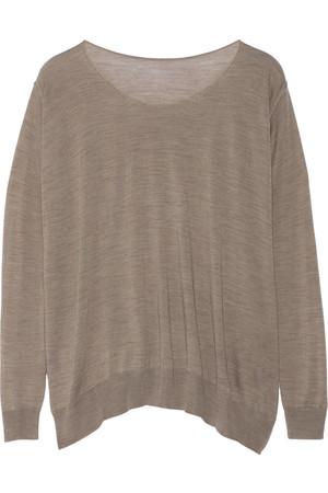 大廓形细织羊毛衫