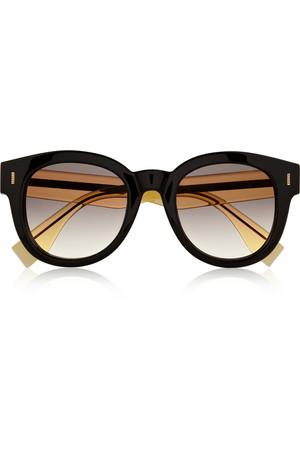 双色 D 形框板材太阳镜