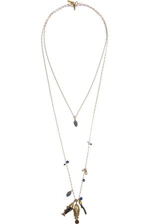 水晶角制品金色项链(两件套)