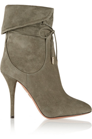 + Olivia Palermo 绒面革及踝靴