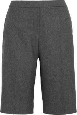 弹力羊毛混纺华达呢短裤