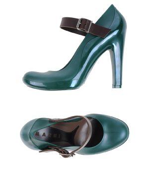 深绿色 MARNI 高跟鞋