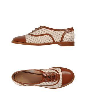 白色 BALLY 系带鞋