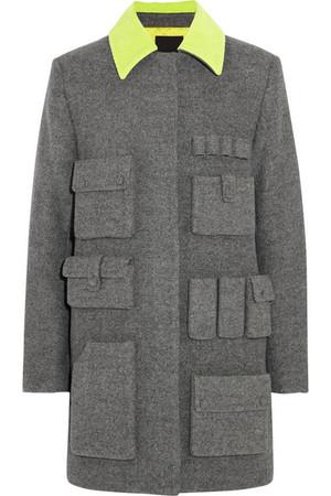 羊毛混纺斜纹布外套