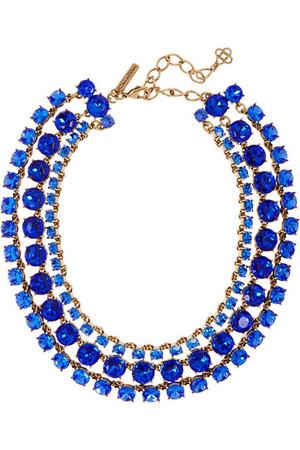 水晶镀金项链