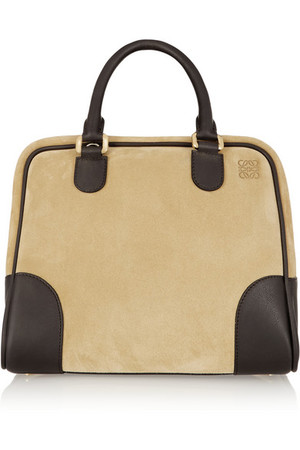 Amazona 75 绒面革和皮革手提包