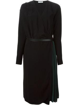 VIONNET wrap pleated dress