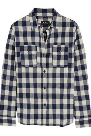 Girl 方格棉质混纺衬衫