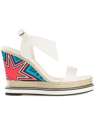 NICHOLAS KIRKWOOD star print wedge sandals