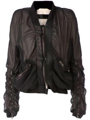 HAIDER ACKERMANN sheer panelled jacket