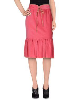 玫红色 PAUL & JOE 半长裙