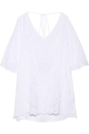 刺绣巴里纱长罩衫裙