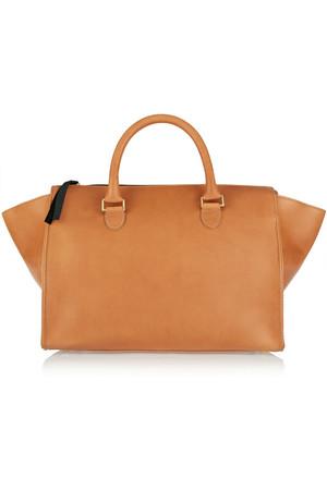 Sandrine 皮革手提包